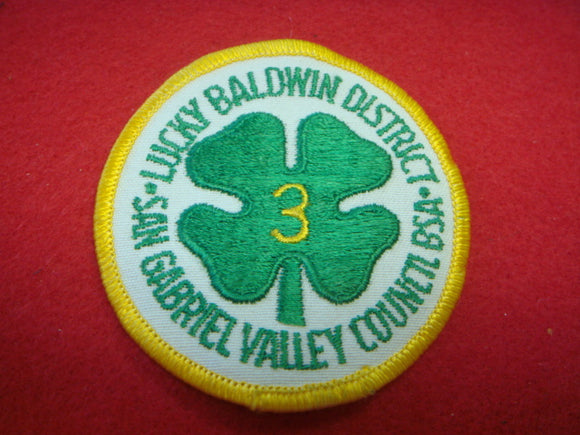 Lucky Baldwin District Gabriel Valley Council