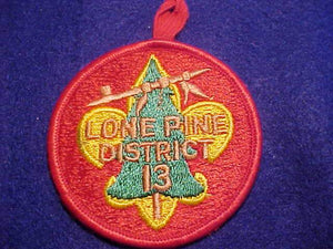 LONE PINE DISTRICT 13