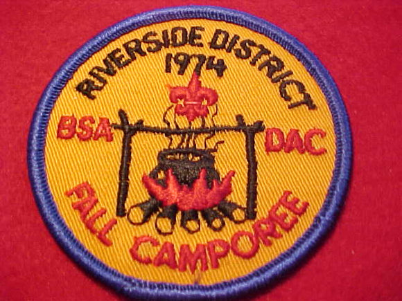 1974, DETROIT AREA C., RIVERSIDE DISTRICT FALL CAMPOREE