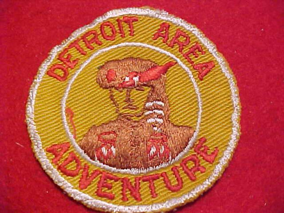 1950'S DETROIT AREA COUNCIL PATCH, DETROIT AREA ADVENTURE, VARIETY #1, USED