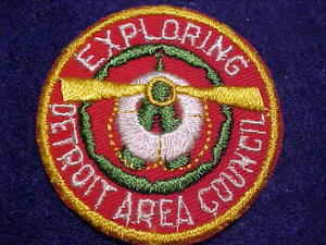 1950'S DETROIT AREA COUNCIL PATCH, EXPLORING
