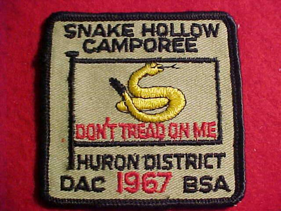1967 DETROIT AREA C., HURON DISTRICT, SNAKE HOLLOW CAMPOREE