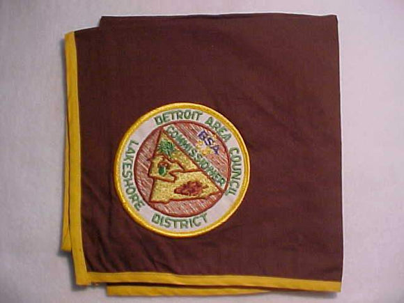 DETROIT AREA COUNCIL N/C, LAKESHORE DISTRICT COMMISSIONER, BROWN N/C WITH PATCH