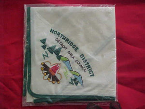 DETROIT AREA COUNCIL N/C, NORTHRIDGE DISTRICT, EMBROIDERED