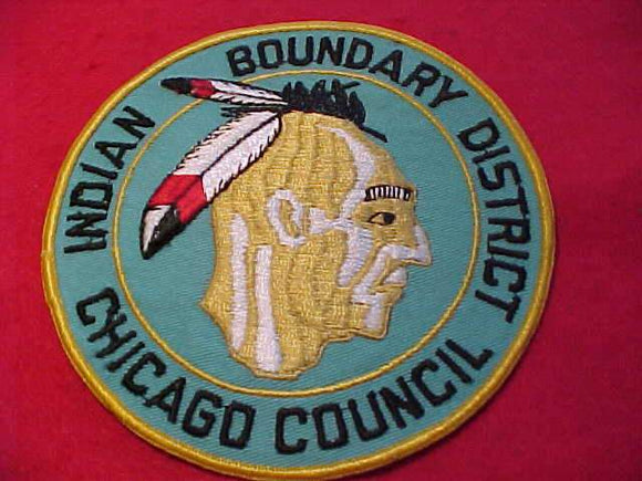 INDIAN BOUNDARY DISTRICT JACKET PATCH, CHICAGO C., 6