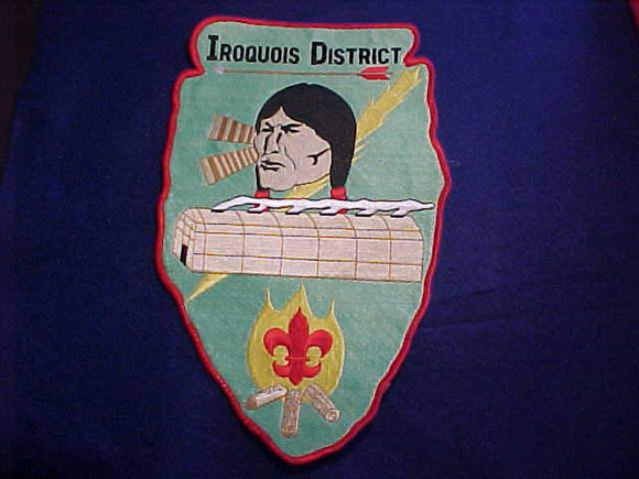 IROQUOIS DISTRICT JACKET PATCH, USED