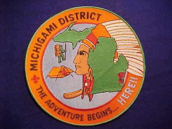MICHIGAMI DISTRICT JACKET PATCH, DETROIT AREA C., 7.75