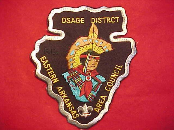 OSAGE DISTRICT JACKET PATCH, EASTERN ARKANSAS AREA C., 6 X 7