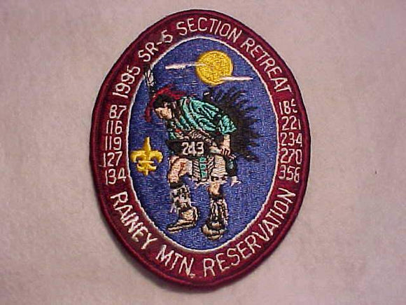 1995 DIXIE FELLOWSHIP ERROR PATCH, SR-5 DIXIE SECTION RETREAT, (#127, 234)