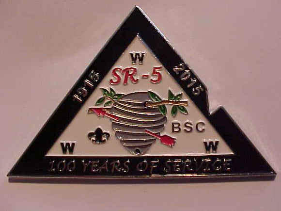 2015 DIXIE FELLOWSHIP PARTICIPATION PIN, SECTION SR-5