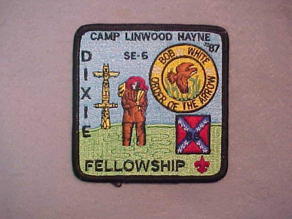 DIXIE FELLOWSHIP PATCH, NO BUTTON LOOP, 1986 SECTION SE5