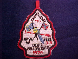 1974 SECTION SE3B DIXIE FELLOWSHIP PATCH