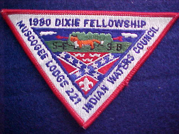 1980 SECTION SE3B DIXIE FELLOWSHIP PATCH