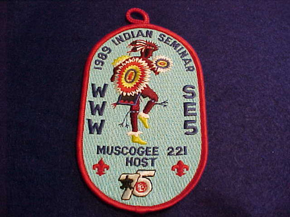 1989 SECTION SE-5, DIXIE INDIAN SEMINAR, HOST LODGE 221-MOSCOGEE