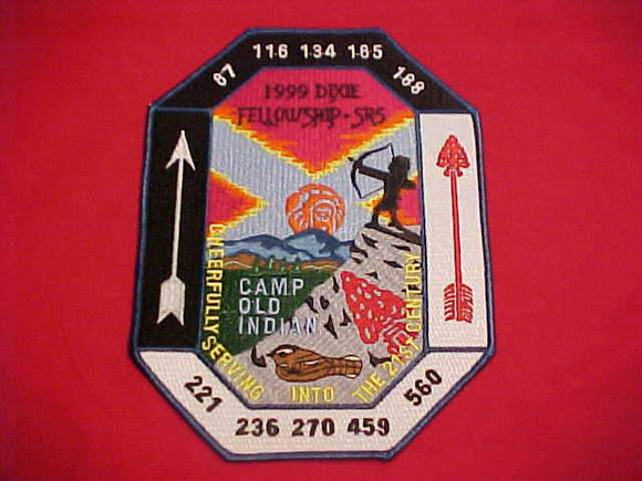1999 DIXIE FELLOWSHIP JACKET PATCH, SECTION SR5, CAMP OLD INDIAN