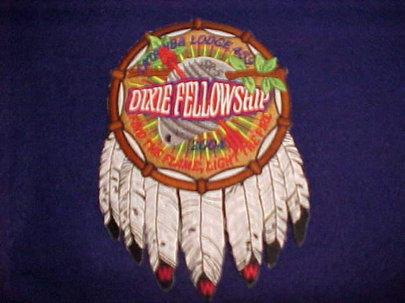 2004 DIXIE FELLOWSHIP JACKET PATCH, SECTION SR5, CATAWBA LODGE 459