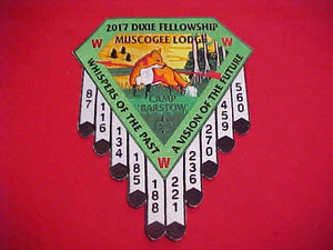 2017 DIXIE FELLOWSHIP JACKET PATCH, SECTION SR5, MUSCOGEE LODGE