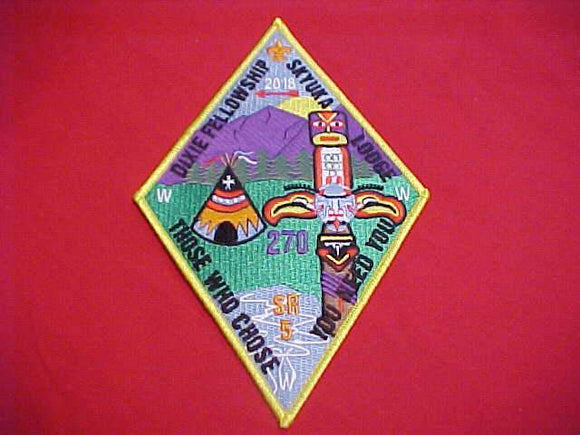 2018 DIXIE FELLOWSHIP JACKET PATCH, SECTION SR5, SKYUKA LODGE 270