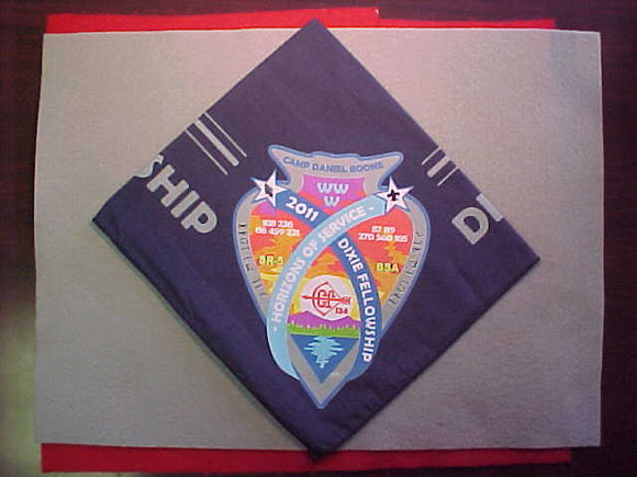 2011 SECTION SR-5 DIXIE FELLOWSHIP NECKERCHIEF,HOST LODGE 134 TSALI,CAMP DANIEL BOONE