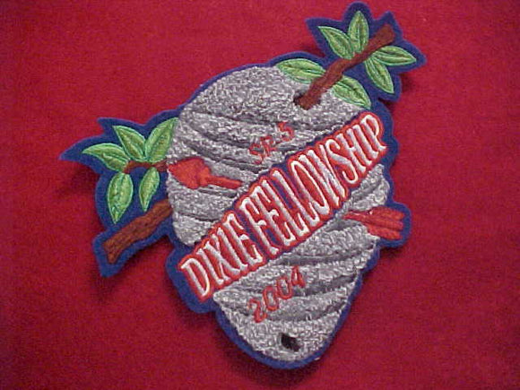 2004 SECTION SR5 DIXIE FELLOWSHIP JACKET PATCH, CHENILLE