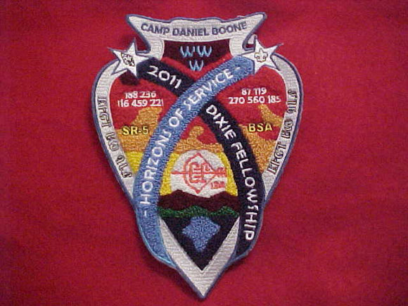 2011 SECTION SR5 DIXIE FELLOWSHIP JACKET PATCH, CHENILLE