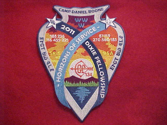 2011 SECTION SR5 DIXIE FELLOWSHIP JACKET PATCH