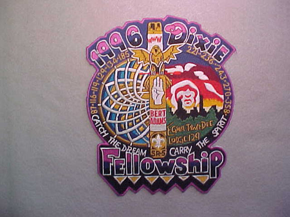 1996 SECTION SR-5 DIXIE FELLOWSHIP JACKET PATCH