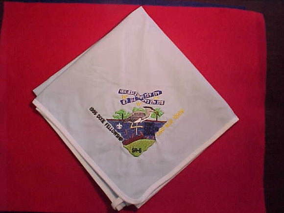 1995 SECTION SR5 DIXIE FELLOWSHIP NECKERCHIEF, CAMP BLUE HERON