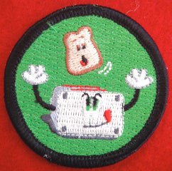Flying toast patrol medallion