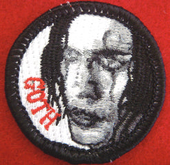 Goth spoof merit badge