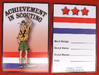 Skinny scout pocket card