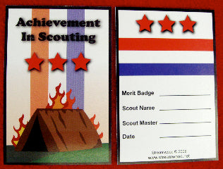 Tent Burning Card