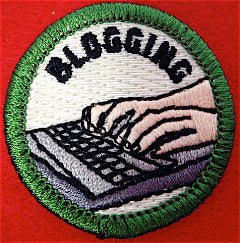 Blogging spoof merit badge