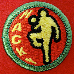 Hacky Sack spoof merit badge
