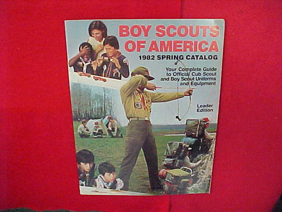 1982 BSA CUB SCOUT AND BOY SCOUT UNIFORMS AND EQUIPMENT,LEADER EDITION,8.5 X 11,48 PAGES