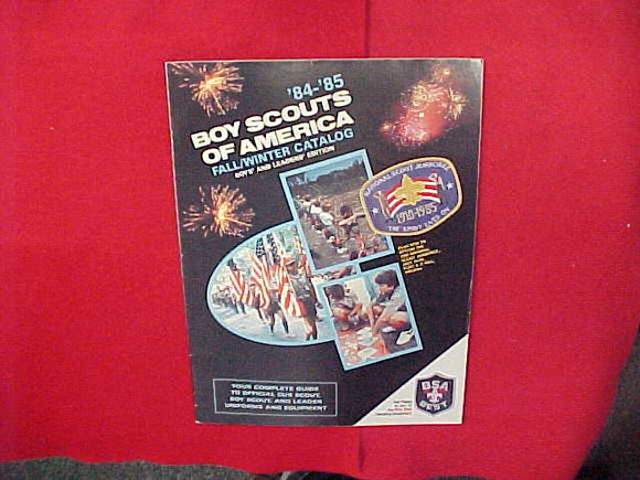 1984-85 BSA CUB SCOUT AND BOY SCOUT UNIFORMS AND EQUIPMENT,BOYS' AND LEADERS' EDITION,8.5 X 11,48 PAGES