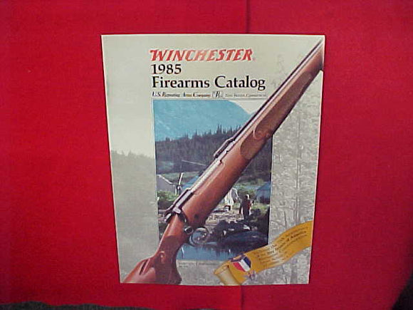 1985 WINCHESTER FIREARMS CATALOG WITH BSA 75TH ANNIVERSARY RIFLES,8.5 X 11,32 PAGES