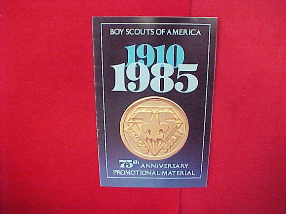1986 BSA DIAMOND JUBILEE 75TH ANNIVERSARY PROMOTIONAL MATERIAL,5.5 X 8.5,12 PAGES