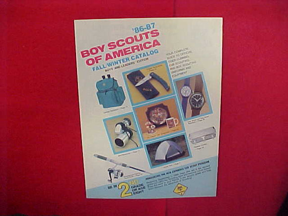 1986 BSA TIGER CUBBING,CUB SCOUTING AND BOY SCOUTING UNIFORMS AND EQUIPMENT,8.5