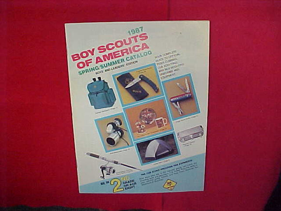 1987 BSA TIGER CUBBING,CUB SCOUTING AND BOY SCOUTING UNIFORMS AND EQUIPMENT,8.5 X 11,51 PAGES