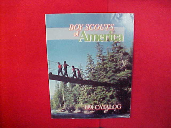 1991 BOY SCOUTS OF AMERICA CATALOG,8.5 X 11,23 PAGES