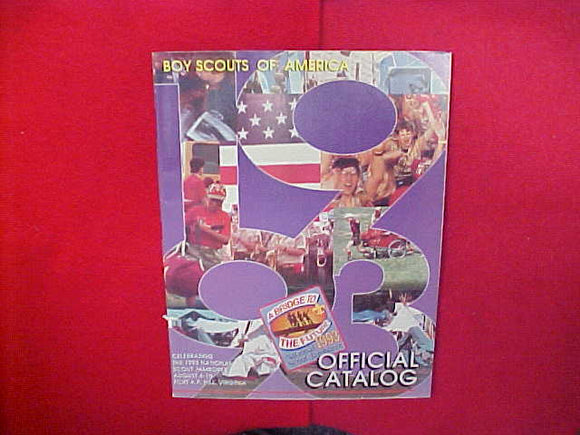 1993 BOY SCOUTS OF AMERICA OFFICIAL CATALOG,8.5 X 11,107 PAGES