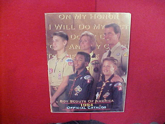 1994 BOY SCOUTS OF AMERICA OFFICIAL CATALOG,8.5 X 11,107 PAGES