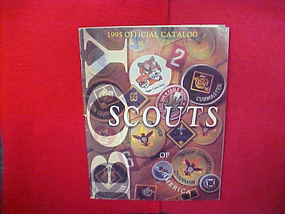 1995 BOY SCOUTS OF AMERICA CATALOG,8.5 X 11,111 PAGES