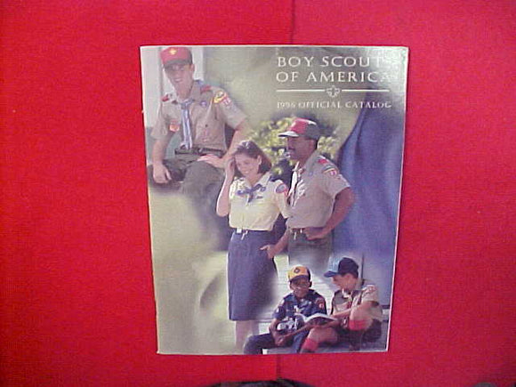 1996 BOY SCOUTS OF AMERICA OFFICIAL CATALOG,8.5 X 11,107 PAGES