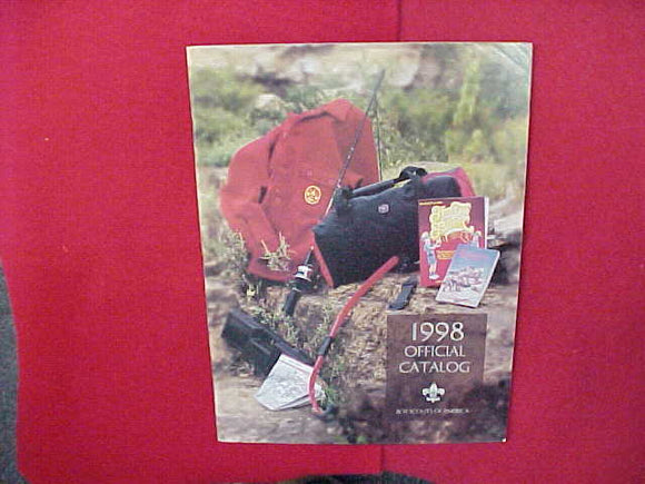 1998 BOY SCOUTS OF AMERICA OFFICIAL CATALOG,8.5 X 11,107 PAGES