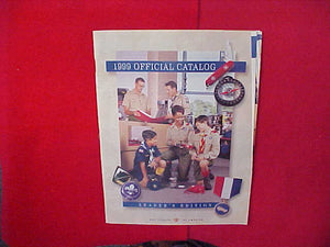 1999 BOY SCOUTS OF AMERICA OFFICIAL CATALOG,LEADER'S EDITION,8.5 X 11,110 PAGES
