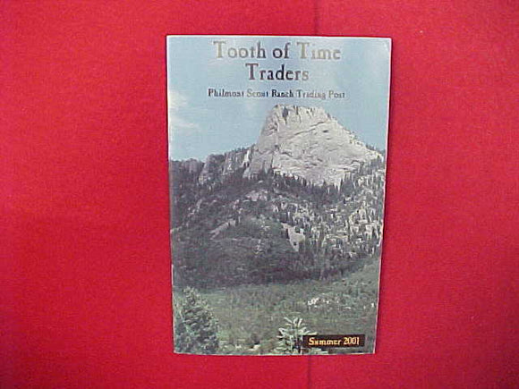 2001 PHILMONT TOOTH OF TIME TRADERS CATALOG,5.5 X 8.5,65 PAGES