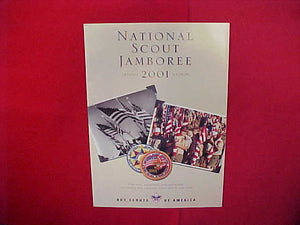 "2001 NATIONAL SCOUT JAMBOREE OFFICIAL CATALOG,8.5"" X 11"",48 PAGES"