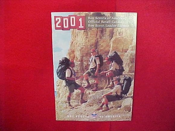 2001 BOY SCOUTS OF AMERICA OFFICIAL RETAIL CATALOG,LEADER EDITION,8.5 X 11,110 PAGES